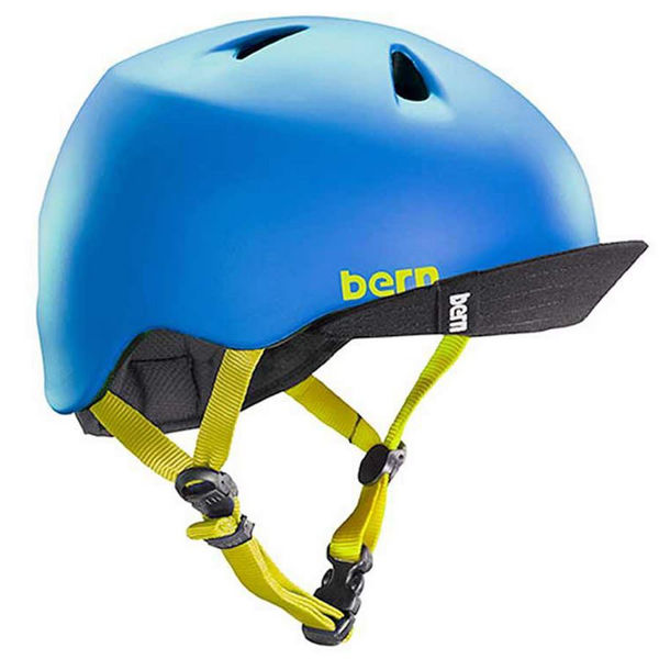 Picture of BERN BIKE HELMET NINO/VISOR MATTE BLUE FOR JUNIORS