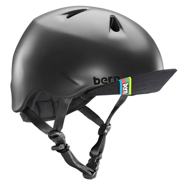 Picture of BERN BIKE HELMET NINO/VISOR MATTE BLACK FOR JUNIORS