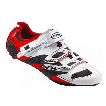 Picture of NORTHWAVE BIKE SHOES SONIC SRS WHITE/RED