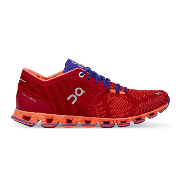 Picture of ON ROAD RUNNING SHOES CLOUD X RED FOR WOMEN