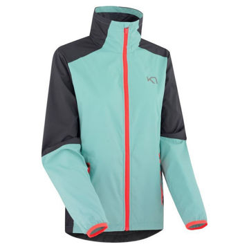 Picture of KARI TRAA RUNNING JACKET NORA JACKET TEAL/BLACK FOR WOMEN