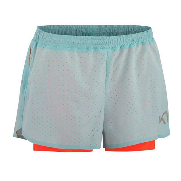 Picture of KARI TRAA RUNNING SHORT MARIKA TEAL/CORAL FOR WOMEN