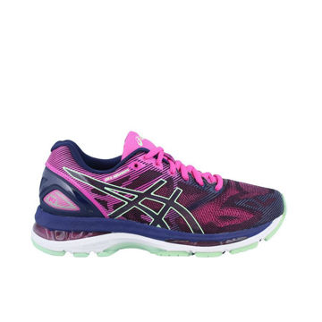 Picture of ASICS ROAD RUNNING SHOES GEL NIMBUS 19 PURPLE/PINK FOR WOMEN