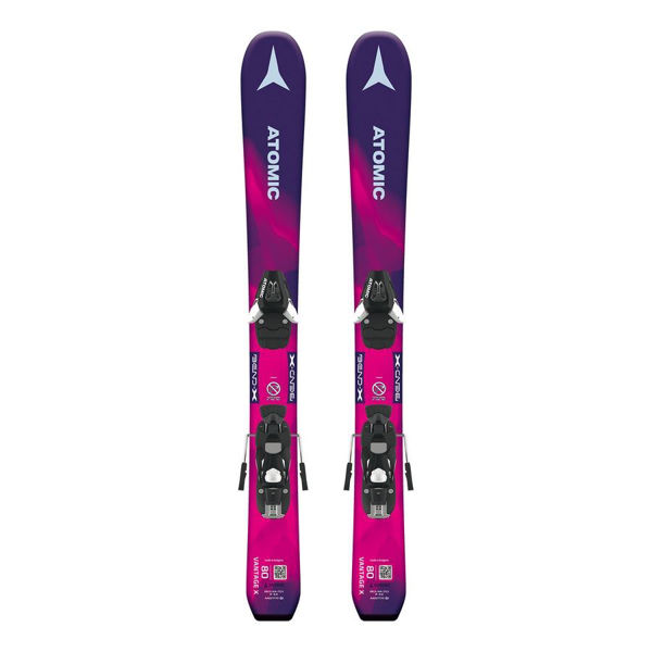 Picture of ATOMIC ALPINE SKIS VANTAGE GIRL X PURPLE/PINK 2019 FOR JUNIORS (WITH BINDINGS)