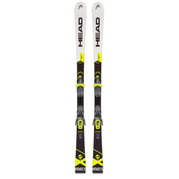 Image de SKIS ALPINS HEAD WORLD CUP REBELS I.SLR NOIR/BLANC/JAUNE 2019 POUR HOMME (AVEC FIXATIONS)