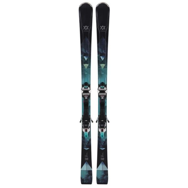 Picture of VOLKL ALPINE SKIS FLAIR 81 CARBON BLACK/BLUE 2019 FOR WOMEN (WITH BINDINGS)
