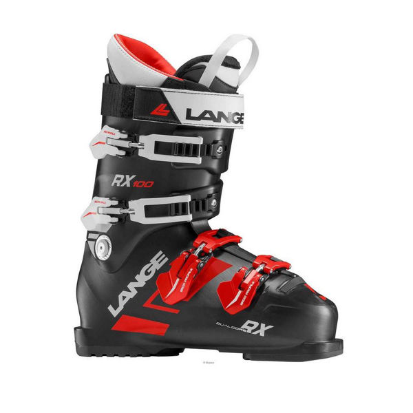 Picture of LANGE APLINE SKI BOOTS RX 100 BLACK/RED FOR MEN