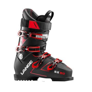 Picture of LANGE APLINE SKI BOOTS SX 90 BLACK/RED FOR MEN