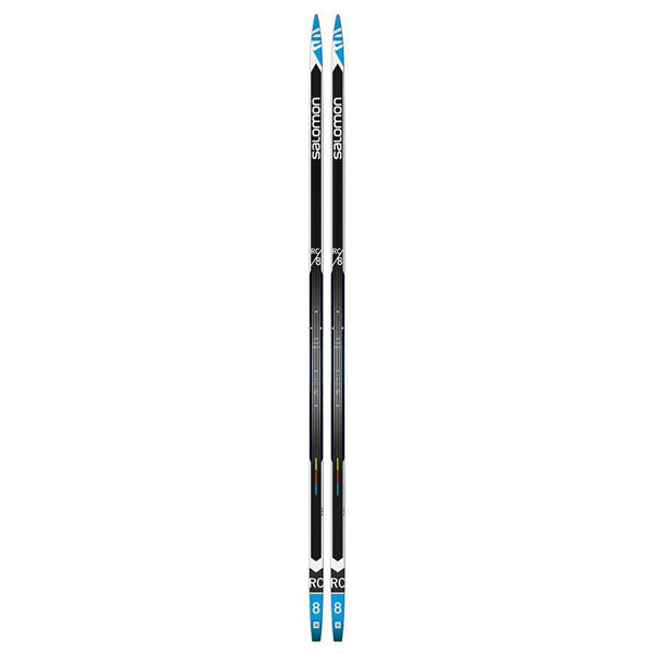 Picture of SALOMON CROSS COUNTRY SKIS RC 8 BLACK/BLUE/WHITE FOR ADULTS(W/M)
