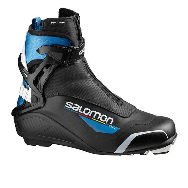 Picture of SALOMON CROSS COUNTRY SKI BOOTS RS PROLINK BLACK/BLUE FOR MEN