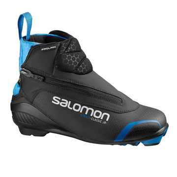 Picture of SALOMON CROSS COUNTRY SKI BOOTS S/RACE CLASSIC PROLINK JR BLACK/BLUE FOR JUNIORS