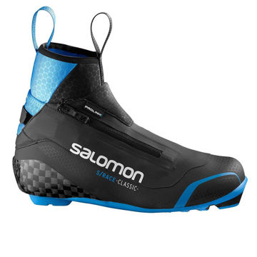 Picture of SALOMON CROSS COUNTRY SKI BOOTS S/RACE CLASSIC PROLINK BLACK/BLUE FOR MEN