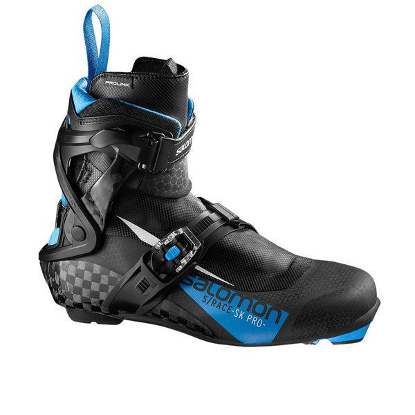 Image sur BOTTES DE SKI DE FOND SALOMON S/RACE SKATE PRO PROLINK NOIR/BLEU POUR HOMME