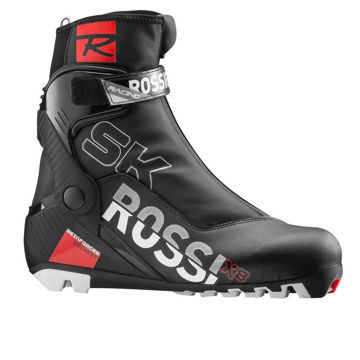 Picture of ROSSIGNOL CROSS COUNTRY SKI BOOTS X-10 SKATE BLACK/RED FOR MEN
