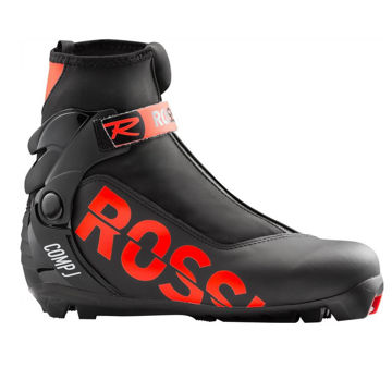 Picture of ROSSIGNOL CROSS COUNTRY SKI BOOTS COMP J BLACK/RED FOR JUNIORS