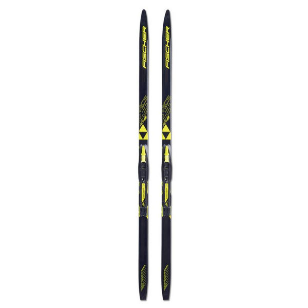 Picture of FISCHER CROSS COUNTRY SKIS SPRINT CROWN IFP BLACK/YELLOW FOR JUNIORS