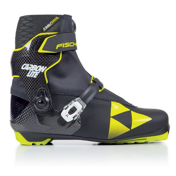 Picture of FISCHER CROSS COUNTRY SKI BOOTS CARBONLITE SKATE BLACK/YELLOW