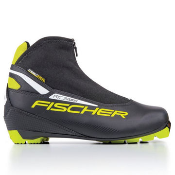 Picture of FISCHER CROSS COUNTRY SKI BOOTS RC3 CLASSIC BLACK/YELLOW