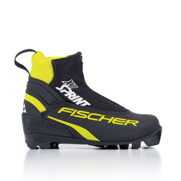 Picture of FISCHER CROSS COUNTRY SKI BOOTS XJ SPRINT BLACK/YELLOW FOR JUNIORS
