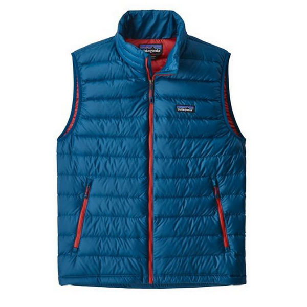 Picture of PATAGONIA ALPINE SKI JACKET DOWN SWEATER VEST BLUE/RED FOR MEN