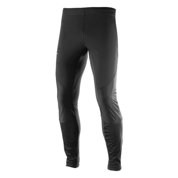 Picture of SALOMON CROSS COUNTRY SKI PANT AGILE SOFTSHELL TIGHT BLACK FOR MEN