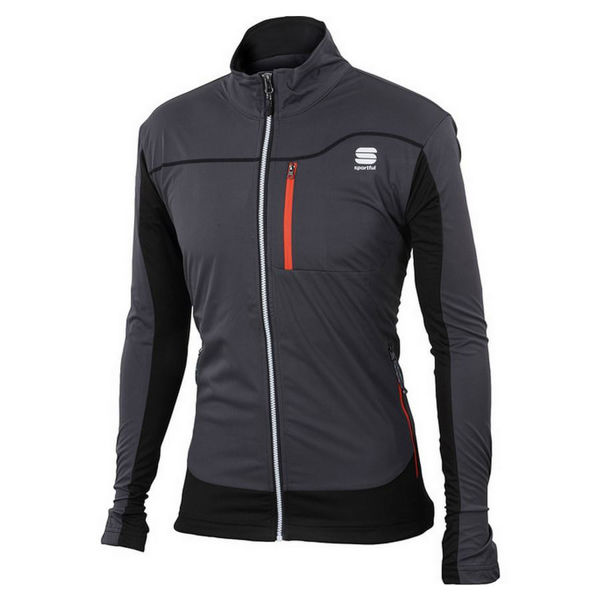 Picture of SPORTFUL CROSS COUNTRY SKI PANT ENGADIN WIND JACKET GREY/BLACK FOR MEN