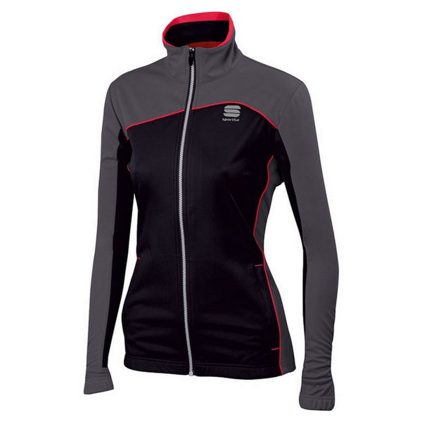 Picture of SPORTFUL CROSS COUNTRY SKI JACKET ENGADIN WIND NOIR/GRIS/ROUGE FOR WOMEN