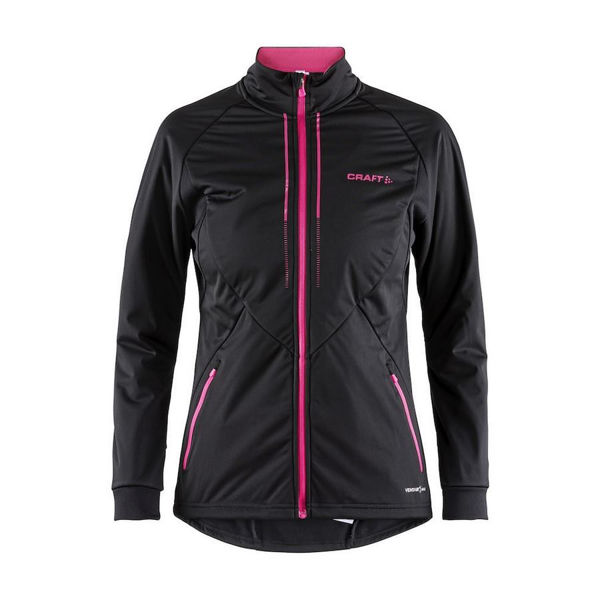 Picture of CRAFT CROSS COUNTRY SKI JACKET STORM 2.0 BLACK/PINK FOR WOMEN