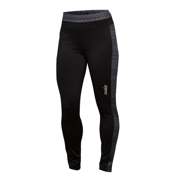 Picture of SWIX CROSS COUNTRY SKI PANT MYRENE MIDLAYER TIGHT BLACK/GREY FOR WOMEN