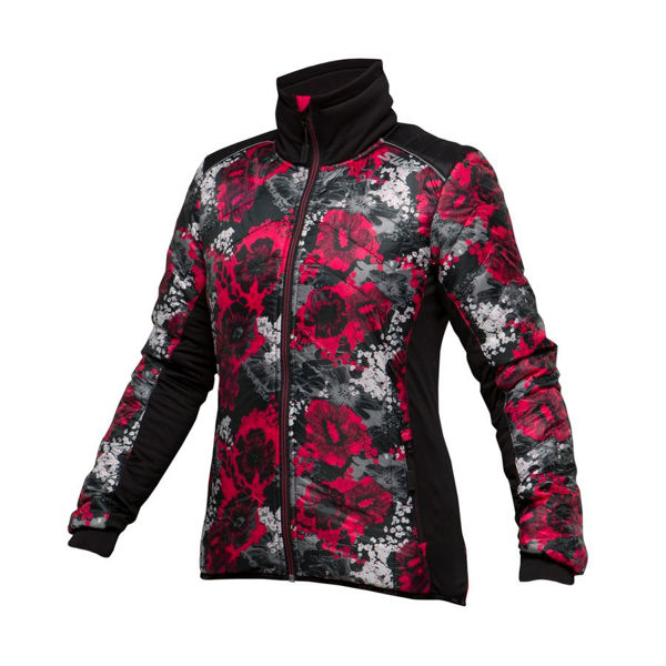 Picture of SWIX CROSS COUNTRY SKI JACKET MENALI QUILTED FLORAL PRINT FOR WOMEN