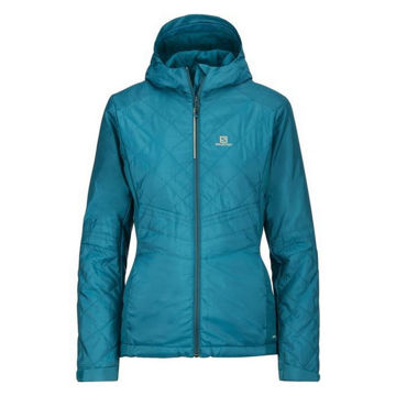 Picture of SALOMON CROSS COUNTRY SKI JACKET NOVA HOODIE TEAL FOR WOMEN