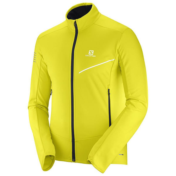 Picture of SALOMON CROSS COUNTRY SKI JACKET RS SOFTSHELL YELLOW FOR WOMEN
