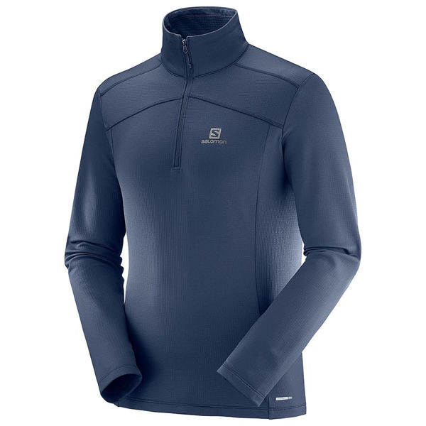 Picture of SALOMON ALPINE SKI SWEATER DISCOVERY LT HZ DARK BLUE FOR MEN