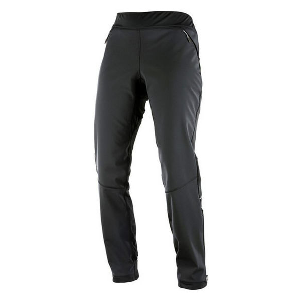 Picture of SALOMON CROSS COUNTRY SKI PANT ELEVATE SOFTSHELL BLACK FOR WOMEN
