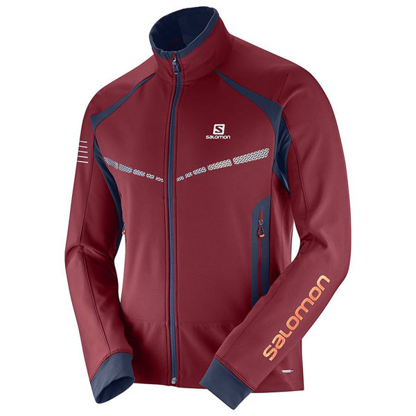 Picture of SALOMON CROSS COUNTRY SKI JACKET RS WARM SOFTSHELL RED FOR MEN
