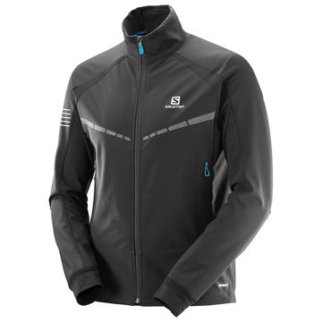 Picture of SALOMON CROSS COUNTRY SKI JACKET RS WARM SOFTSHELL BLACK FOR MEN