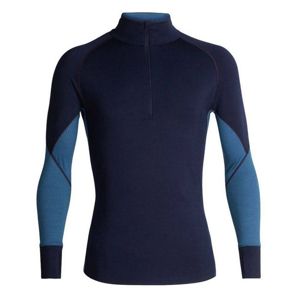 Picture of ICEBREAKER ALPINE SKI SWEATER 260 ZONE LONG SLEEVE HALF ZIP BLUE FOR MEN