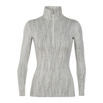 Picture of ICEBREAKER ALPINE SKI SWEATERS 250 VERTEX LONG SLEEVE HALF ZIP DRIFT WHITE/BLACK FOR WOMEN