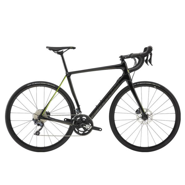Picture of CANNONDALE ROAD BIKE SYNAPSE CARBON DISC ULTEGRA BLACK/GREEN 2019