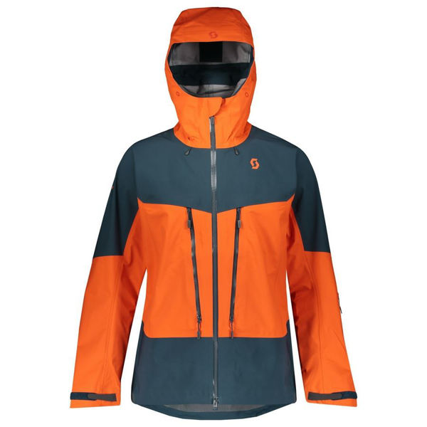 Picture of SCOTT ALPINE SKI JACKET VERTIC TOUR BLUE/ORANGE FOR MEN