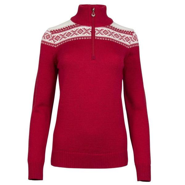 Picture of DALE OF NORWAY ALPINE SKI SWEATERS CORTINA MERINO RED/WHITE FOR WOMEN