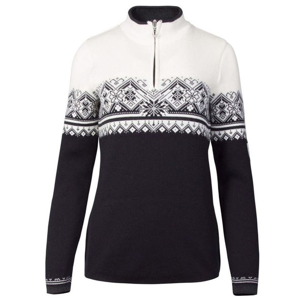 Picture of DALE OF NORWAY ALPINE SKI SWEATERS ST-MORITZ BLACK/WHITE FOR WOMEN