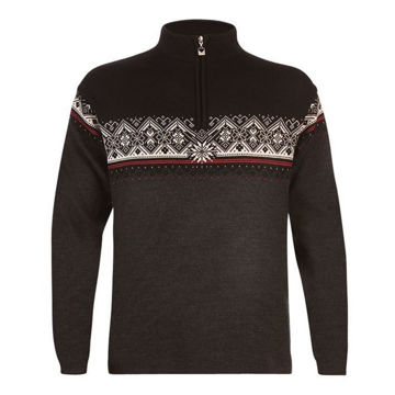 Picture of DALE OF NORWAY ALPINE SKI SWEATER ST-MORITZ GRAY/BLACK/RED/WHITE FOR MEN