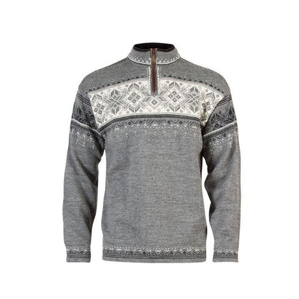 Picture of DALE OF NORWAY ALPINE SKI SWEATERS BLYFJELL GRAY/WHITE
