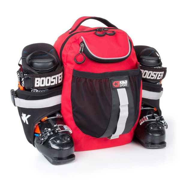 Picture of K&B ALPINE SKI BAG EXPERT BOOT PACK RED/BLACK