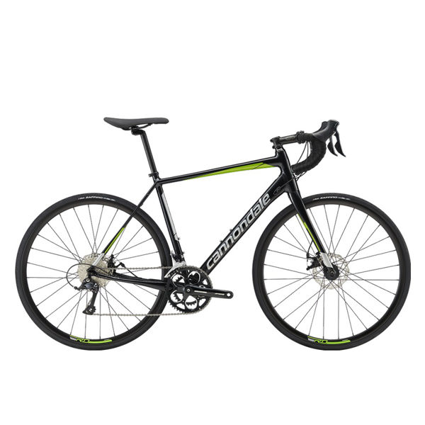 Picture of CANNONDALE ROAD BIKE SYNAPSE ALLOY DISC SORA BLACK/GREEN 2019 FOR MEN