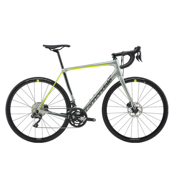 Picture of CANNONDALE ROAD BIKE SYNAPSE CARBON DISC ULTEGRA DI2 GREY/GREEN 2019