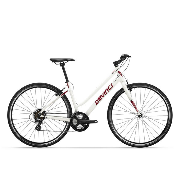 Picture of DEVINCI HYBRID BIKE MILANO WF STEPTHRU WHITE/PINK 2019 FOR WOMEN