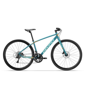 Picture of DEVINCI HYBRID BIKE HEX SORA WF BLUE/ORANGE 2019 FOR WOMEN