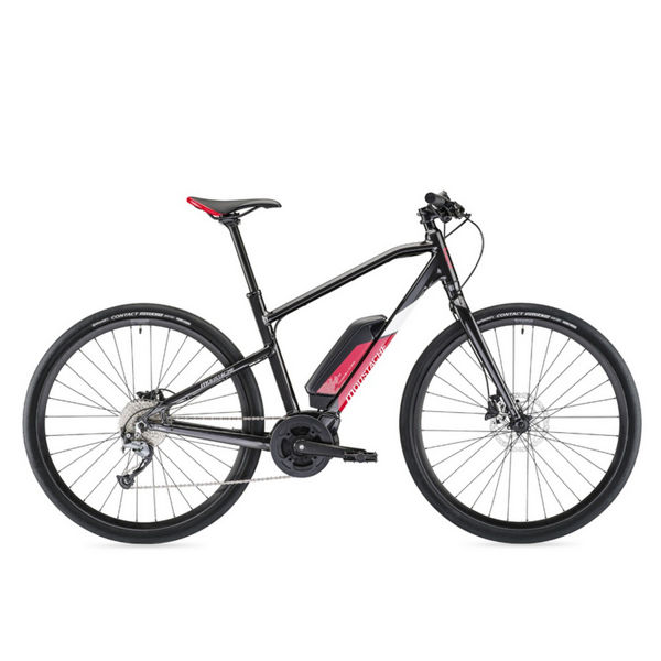 Picture of MOUSTACHE ELECTRIC BIKE DIMANCHE 28 FITNESS 1 BLACK/RED 2019